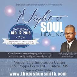 Soul healing flyer